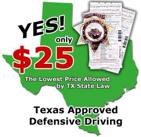 Texas Defensive Driving courses for the most affordable price!